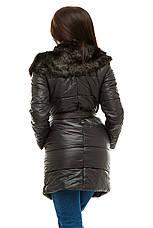 Женская Стеганая куртка с меховой отделкой, фото 3