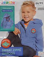Задорная кофта с принтом акула детская с капюшоном для мальчика Lupilu