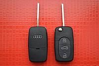 Ключ AUDI выкидной 3 кнопки 433Mhz id48 4DO 837 231 N