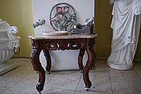 Столик кофейный из натурального мрамора