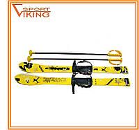 Лыжи с палками Marmat детские пластиковые 90 см (набор лыжный / лыжи пластиковые + палки алюминий)