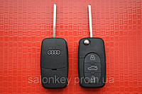 Ключ AUDI выкидной 3 кнопки 433Mhz id48 4DO 837 231 K