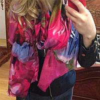 Палантин шарф женский кашемировый яркий стильный