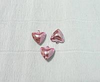 Бубенчик-сердечко, Розовый, 2см