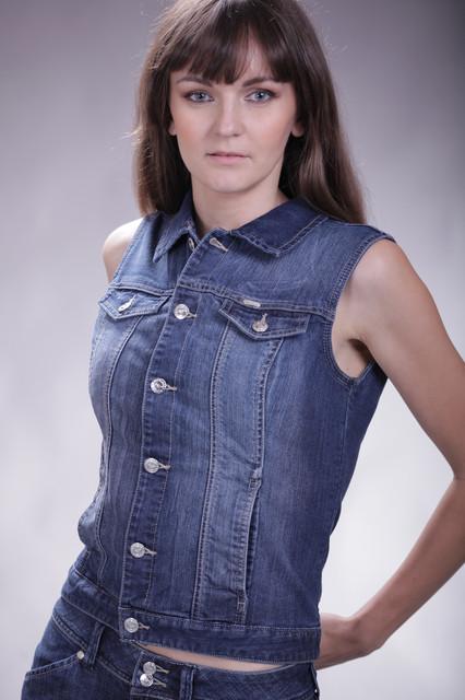 Женский джинсовый жилет MONTANA темно-синий