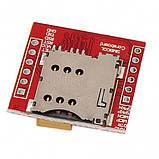 Модуль GSM GPRS SIM800L с разъёмом для MicroSIM карты. UART TTL  последовательный порт., фото 3