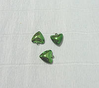 Бубенчик-сердечко, Зеленый, 2см