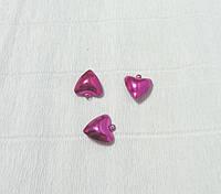 Бубенчик-сердечко, Темно-розовый, 2см