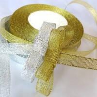 Лента парча 1 см золото, фото 1