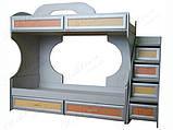 Модульная мебель Пионер-С Кровать 2-х ярусная с ящиками на роликах и вкладами Пионер Lа, фото 2