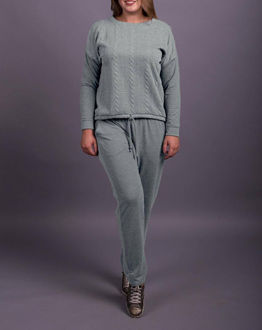 """Спортивный женский костюм """"Мулан Грей"""" до 70 размера"""