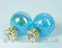 Серьги голубые  4050
