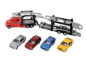 Автотранспортер с четырьмя машинками Dickie Toys 3745000