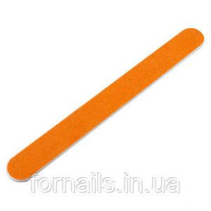 Пилка для ногтей прямая, оранжевая 100/100