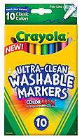 Смывающиеся фломастеры тонкая линия 10 цветов Crayola 10 Ct Ultra-Clean Fine Line Washable Markers