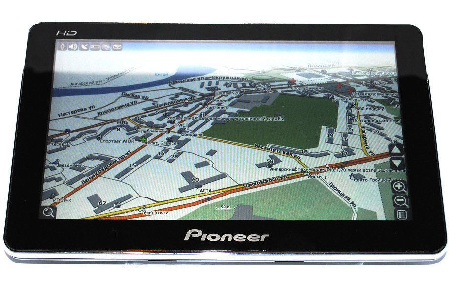 Сенсорный (антибликовое покрытие) навигатор GPS Pioneer PI-5720  5