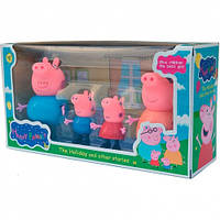 Семья Пеппы Peppa Pig 4 фигурки