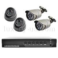 Комплект видеорегистратор+камеры KA6504MK