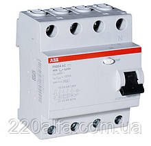 Устройство защитного отключения ABB FH204 AC-25/0,03 УЗО 25А. трехфазное.