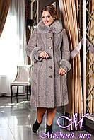 Женское зимнее пальто для полных (48-64) арт. 708 Тон 115