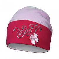 Нежная трикотажная шапка для девочек, фото 1