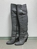 Серые сапоги-ботфорты Collection PRIVEE?