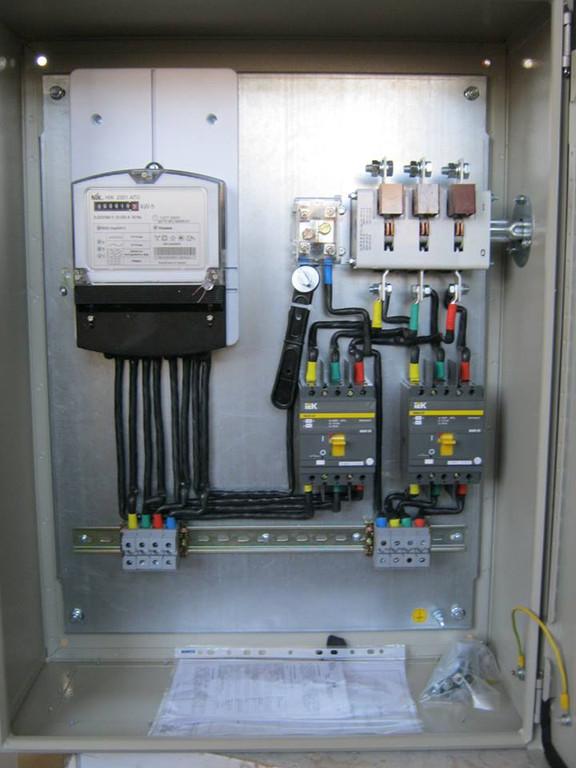 Розподільчі щити з обліком електроенергії