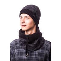 """Комплект мужской (подростковый) шапка на флисе и снуд """"Прайм"""""""