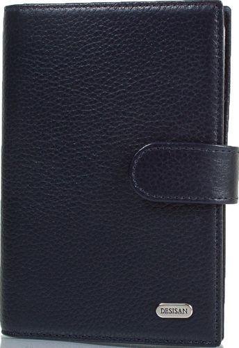 Мужской кожаный органайзер для документов Desisan Shi102-315 синий