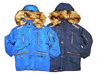 Куртка зимняя  для мальчиков на синтепоне, размеры 92/98, 104/110, 116/122, 128, Glostory, арт. ВМА  3258