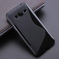 Чехол Samsung J700 / J7 силикон TPU S-LINE черный