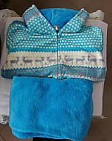 Пижама женская теплая с Оленями Велсофт