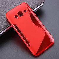 Чехол Samsung J320 / J300 / J3 / J3 2016 силикон TPU S-LINE красный