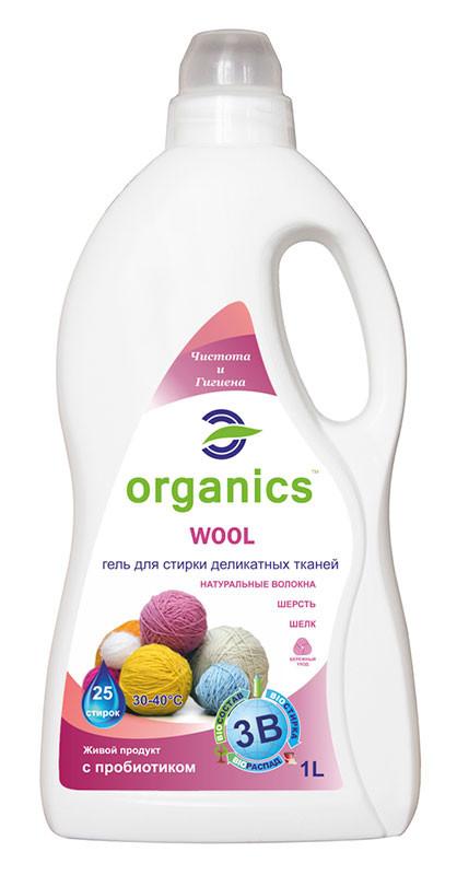 Гель для стирки деликатных тканей Organics Wool 1л
