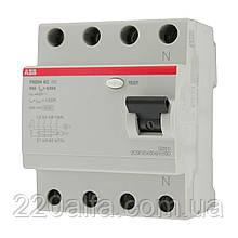 Устройство защитного отключения ABB FH204 AC-63/0,03 УЗО 63А. трехфазное.