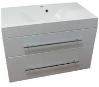 "FM Barbados 90 (ШН-95) Шкафчик навесной белый с раковиной ""Nadja""896x503х610"