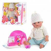 Кукла пупс 8001 E-F-G-H Беби Борн, вязанная одежда 8001wt