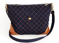 Женская сумочка срыжими кожаными уголками  , фото 1