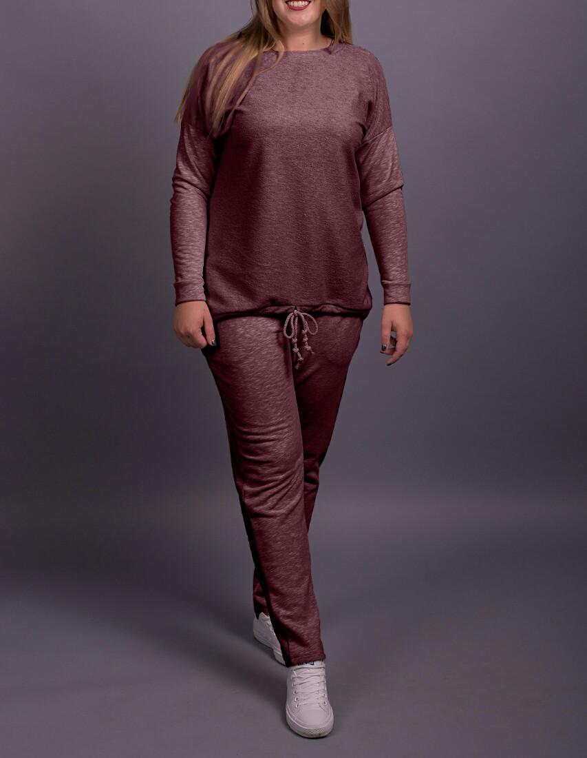 """Спортивный женский костюм """"Колетто Бордо"""" до 70 размера"""