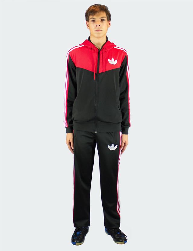 Спортивный костюм три полоски - стрейч-эластан - фото teens.ua