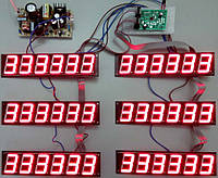 Комплект электроники для табло обмена валют на 3 валюты OV1.5-6-3