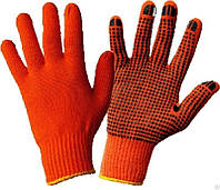 Перчатки х/б оранж. 2 сорт