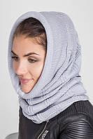 Вязанный теплый женский капор