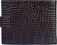 Шикарный мужской кожаный кошелек с тиснением под кожу крокодила CANPELLINI SHI503-11 коричневый, фото 3