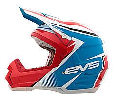 Мотошлем EVS T5 GP красный синий L