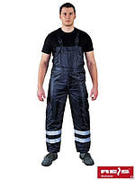 Защитный рабочий утеплённый полукомбинезон REIS S-WINTER-STR., фото 1