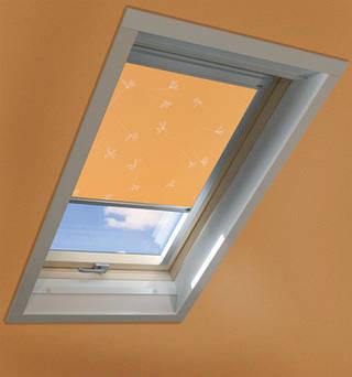 Рулонные шторы на направляющих VELUX (Велюкс) аксессуары для мансардных окон