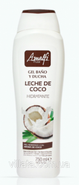 """Гель для душа Amalfi """"Кокосовое молоко"""" 750 ml Испания"""