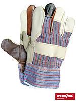 Перчатки комбинированые из кожи REIS RLKPAS