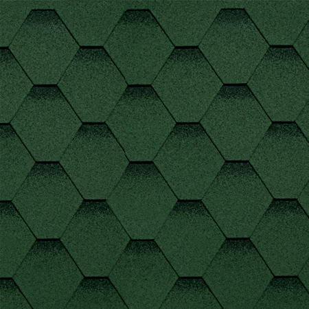 Битумная черепица Shinglas (Шинглас) Классик Кадриль Соната Нефрит (Зеленый)